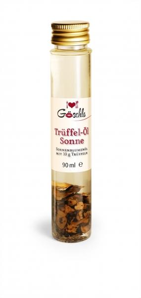 TRÜFFEL -ÖL `Sonne` mit 10 g Trüffelscheiben, 90 ml