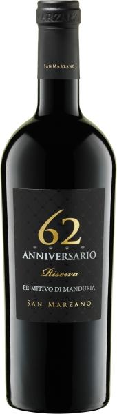 62 ANNIVERSARIO RISERVA PRIMITIVO DI MANDURIA